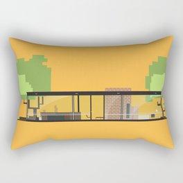Iconic Houses - Glass House Rectangular Pillow