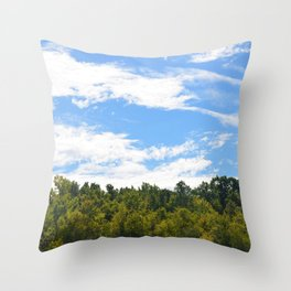 The Trees Above Throw Pillow