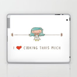 I love cooking girl Laptop & iPad Skin