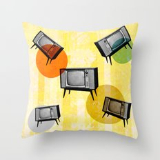 VINTAGE HOME CINEMA Throw Pillow