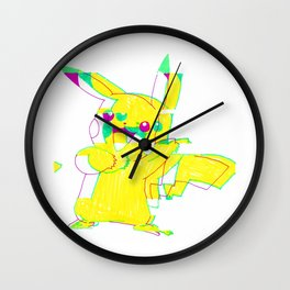 Glitchachu Wall Clock