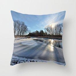 Long Shadows of Winter Throw Pillow
