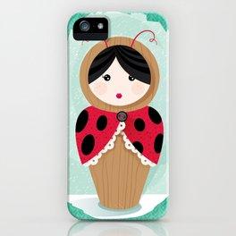 Ladybug Matryoshka iPhone Case