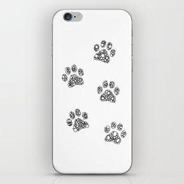 Cat tracks iPhone Skin