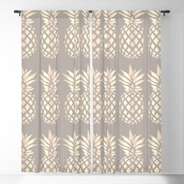 Pretty copper rose gold pineapple Blackout Curtain