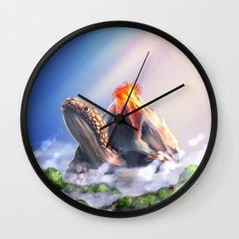 Volcano turtle Wall Clock