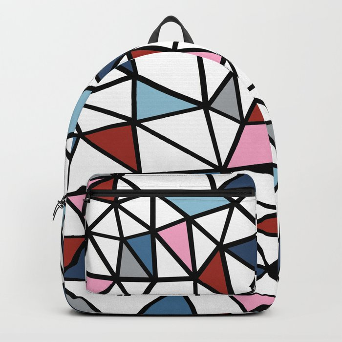 Segment Pink and Blue Backpack