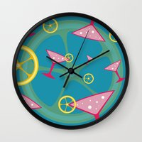cocktail Wall Clocks featuring cocktail by vitamin