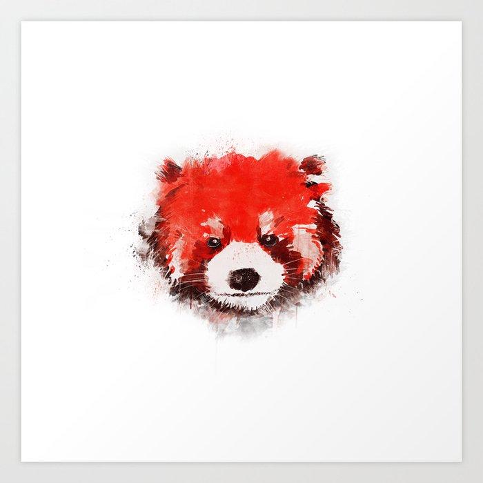 Red Panda (White) Art Print