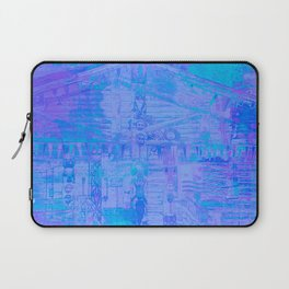 Totem Pole Cabin Abstract - Blues & Purples Laptop Sleeve