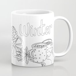 Winter dreams (line art) Coffee Mug