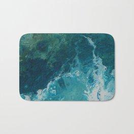 Ocean View, abstract acrylic fluid painting Bath Mat