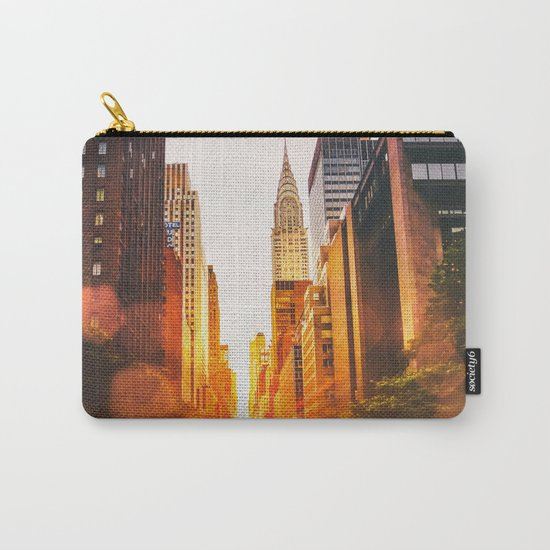 NYC Skyline Sunset Carry-All Pouch