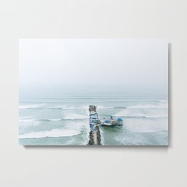 View off the Coast of Miraflores, Lima, Peru Metal Print
