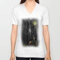rabbits V-neck T-shirts featuring Rabbits by Digital-Art