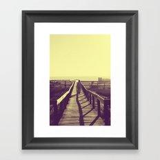 Man walking Framed Art Print