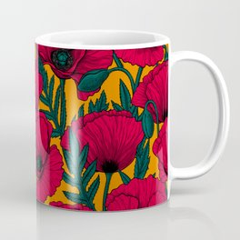 Red poppy garden Coffee Mug