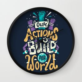 Build Our World Wall Clock