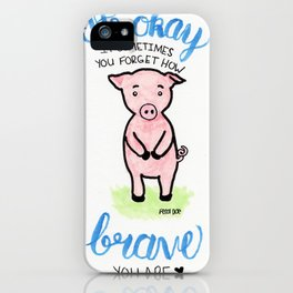 Brave Piggy iPhone Case