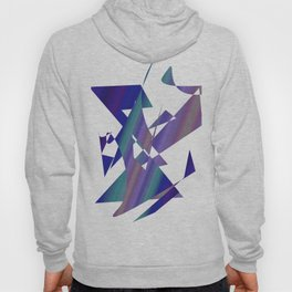 geometrical abstract colored shapes of blue Hoody