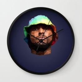 Schoolboy Q Low Poly Art Wall Clock