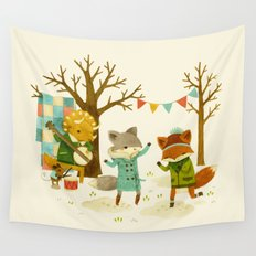 Critters: Spring Dancing Wall Tapestry