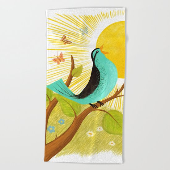 Early To Rise Beach Towel