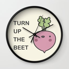 Turn Up The Beet Wall Clock