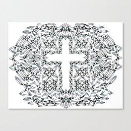 Celtic Cross Pattern Canvas Print