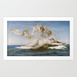 The Birth of Venus, 1863 by Alexandre Cabanel Art Print