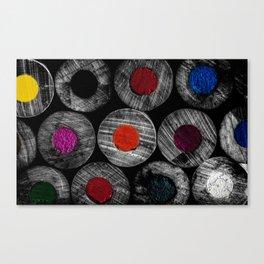 Art Supplies Black And White Canvas Print