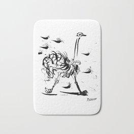 Pablo Picasso Ostrich Artwork T Shirt, Reproduction Sketch Bath Mat