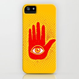 Hand and eye iPhone Case