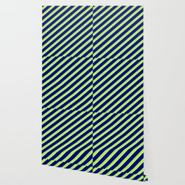 Blue, Light Green, and Mint Cream Colored Lined/Striped Pattern Wallpaper