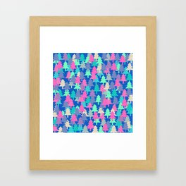 Colorful fir pattern II Framed Art Print