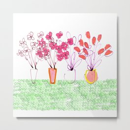 Flowers Galore Metal Print