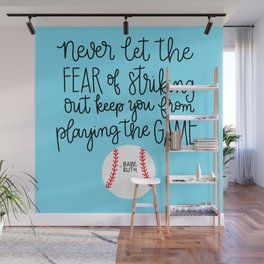 Fear of Striking Out Wall Mural