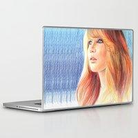 jennifer lawrence Laptop & iPad Skins featuring Jennifer Lawrence by xDontStopMeNow