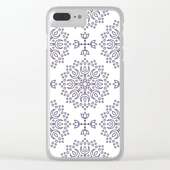 simple mandala Clear iPhone Case