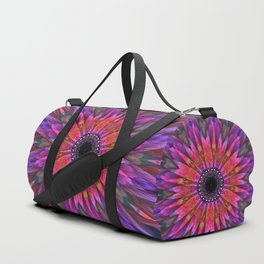 Energy mandala in multicolor Duffle Bag