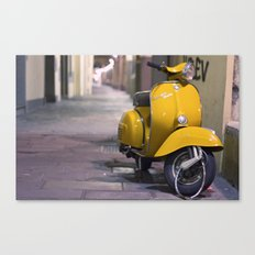 Scooter, Italy. Canvas Print
