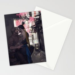 Stealing a moment Stationery Cards
