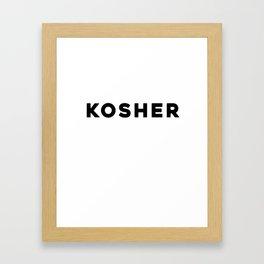 KOSHER Framed Art Print