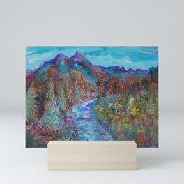 Maroon Bells and Maroon Creek, Snowmass Wilderness Area Colorado Mountains Mini Art Print