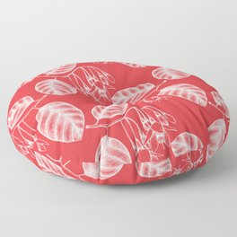 Spring Fresh Poppy Red Floor Pillow