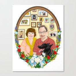 For Mr. and Mrs Schmitt Canvas Print
