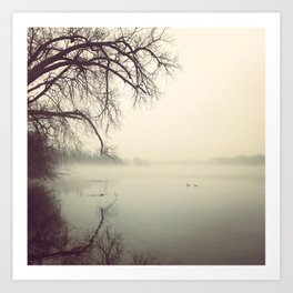 Cedar Lake Fog Art Print