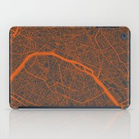 paris map iPad Cases featuring Paris map by Map Map Maps