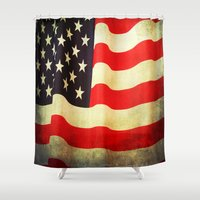 america Shower Curtains featuring America by ThePhotoGuyDarren