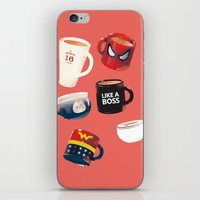 persona iPhone & iPod Skins featuring Workday Persona  by vonhagee
